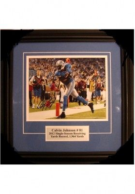 Calvin Johnson, Autographed Photo