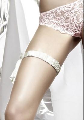 Satin Leg Garter – White